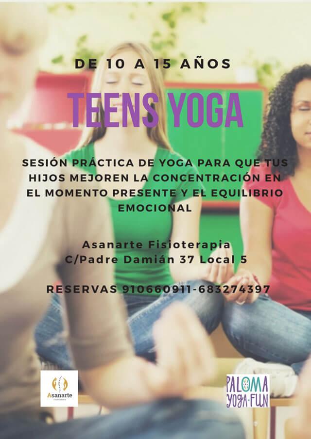 Yoga para niños y adolescentes en Asanarte